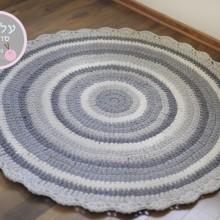 שטיח אפורים עם שמנת