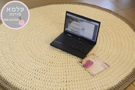 שטיח סרוג בעבודת יד - חוטי טריקו