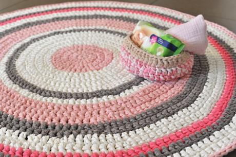 שטיח יפעת - סרוג מטריקו בעבודת יד